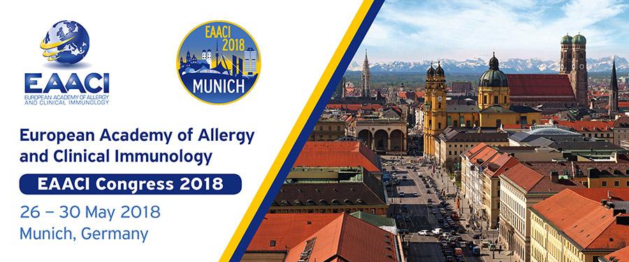 Постерные доклады о мультикомпонентной чиповой аллергодиагностике ALEX на конгрессе EAACI (Европейской Ассоциации аллергологов и клинических иммунологов) в Мюнхене 25-30.05.2018 г.